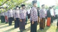 Upacara hari santri nasional 2021 di desa Genuk Watu Kecamatan Ngoro, Jombang, Jumat (22/10/2021). KabarJombang.com/Diana Kusuma Negara/